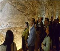 صور| وسط حضور 5 وزراء.. وفد دبلوماسي إفريقي في جولة بمعبد أبوسمبل