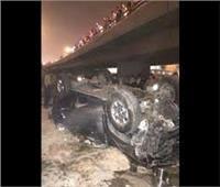 سقوط سيارة ملاكي من أعلى محور 26 يوليو بالمنصورية وإصابة ٣ أشخاص