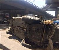 سقوط سيارة ملاكي من أعلى محور 26 يوليو بالمنصورية وإصابة 3 أشخاص