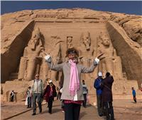 باربرا بوشيه: أشعر بالأمن في مصر.. وسعيدة بزيارة معبد أبو سمبل