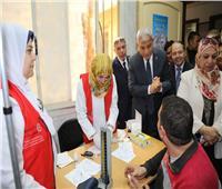 محافظ المنوفيةيتفقد فعاليات الحملة القومية للتطعيم ضد شلل الأطفال
