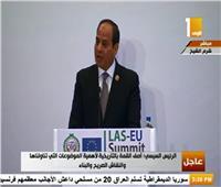 الكلمة الكاملة للرئيس السيسي في ختام أعمال القمة العربية الأوروبية
