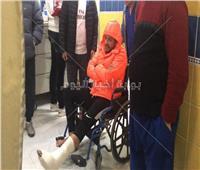 صور| إصابة «حماقي» بكسر في القدم تتطلب تدخل جراحي