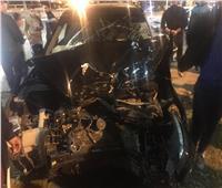 صور| إصابة 4 أشخاص في حادث تصادم بالإسماعيلية