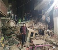 صور  النيابة تطلب تحريات المباحث في حادث انهيار عقار ببولاق الدكرور