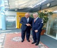 وزير الخارجية يلتقي «المفوض السامي للأمم المتحدة» في ختام زيارته لجنيف