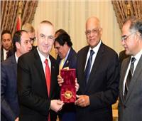 «عبد العال» يستقبل رئيس ألبانيا في البرلمان