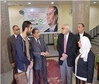 رئيس جامعة المنصورة يتفقد تجهيزات النقاط الطبية لحملة 100 مليون صحة