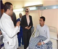 حريق محطة مصر  وزيرة الصحة: توفير كافة الرعاية الطبية والنفسية للمصابين وأسرهم