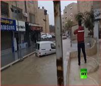 شاهد| فيضانات تجتاح العاصمة الأردنية عمان
