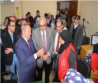 إقبال فاق التوقعات بجامعة المنصورة على حملة 100 مليون صحة