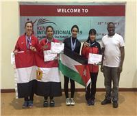فضيتان وبرونزيتان لمصر ببطولة كينيا الدولية للريشة الطائرة