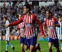 فيديو| أتلتيكو مدريد يواصل مطاردة برشلونة بـ«ثنائية» موراتا