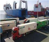 تداول 533 شاحنة بضائع بموانئ البحر الأحمر