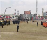 الداخلية تجري بيان عملي على التعامل مع انهيار وحريق المباني وانقاذ المحتجزين