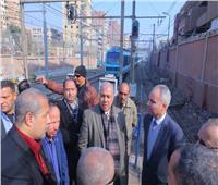 نائب وزير النقل يتابع التشغيل التجريبي لازدواج محطتي مترو المرج
