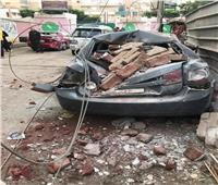 بالصور| إصابة مسنة وتهشم 8 سيارات في انفجار شبكة غاز بالزقازيق