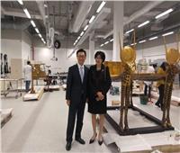 سفير كوريا الجنوبية بالقاهرة يزور المتحف المصري الكبير