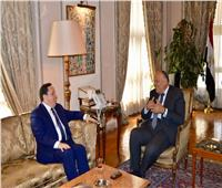 وزير الخارجية يلتقي نظيره التونسي لبحث التشاور السياسي بين البلديّن