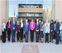 وزيرة الهجرة تلتقي ٩٥ أستاذا مصريا بجامعة بيروت العربية في لبنان