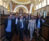 بالصور| وزير المالية يتفقد مسجد الفتاح العليم وكاتدرائية ميلاد المسيح