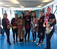 اليوم العالمي للمراة| القومي للمراة يستقبل السيدات  بالورود