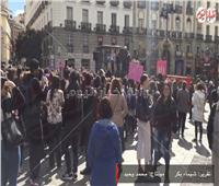 بالفيديو| احتجاجات نسائية في إسبانيا تزامناً مع يوم المرأة العالمي