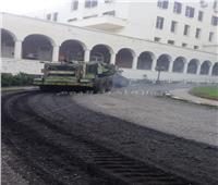 استمرار أعمال رصف ورفع كفاءة الطرق بالإسكندرية