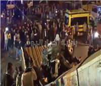 إصابة شخصين في انقلاب سيارة أعلى كوبري أرض اللواء بالجيزة