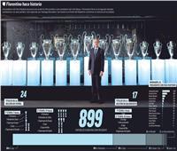 900 مباراة لريال مدريد تحت رئاسة المخضرم « بيريز»