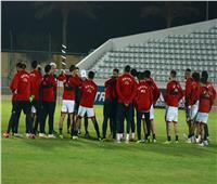 منتخب مصر يتدرب على الملعب الفرعي لبرج العرب