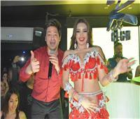 صور| حسن الخلعى وجوهرة يحتفلان بـ«أوعى الوحش» فى «RAi club»