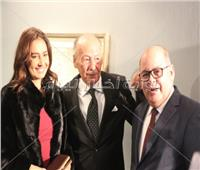 صور| حلا وهنا شيحة في معرض والدهما بحضور فلوكس والفقي ومدحت صالح
