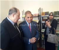 صور| افتتاح معرض الكتاب بجامعة الأزهر بالتعاون مع «الشئون الإسلامية»