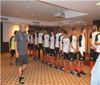 منتخب مصر يواصل أداء تدريبات اللياقة البدنية داخل الفندق