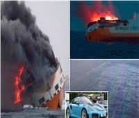 صور وفيديو| بينها 37 «بورش».. آلاف السيارات الفارهة تغرق في المحيط الأطلسي