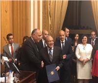 «شكري» يؤكد دور الخارجية في الدفاع عن مصالح الشعب المصري