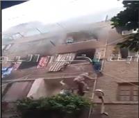 بالفيديو.. «سوبر مان» الزاوية الحمراء ينقذ أسرة من حريق هائل