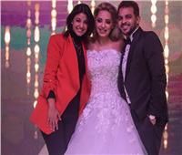 فيديو| «زغروطة» من ياسمين علي لـ«رشاد ومي حلمي» في زفافهما