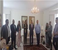 وزيرة الهجرة تلتقي بعض الشباب المصريين المقيمين في استراليا