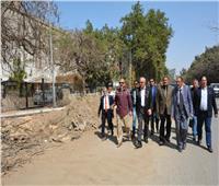 صور.. تطوير وتوسعة شارع نادى الصيد بحى الدقى
