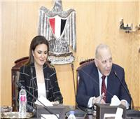 وزير العدل وسحر نصر يبحثان تيسير إجراءات الاستثمار