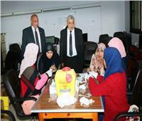 """نائب رئيس جامعة طنطا يتفقد لجان الفحص بمبادرة """"100 مليون صحة"""""""