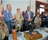 تكريم محمد صبحي في احتفالية عيد ميلاده بالأكاديمية البحرية