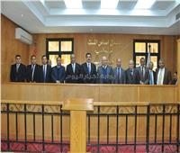 أبو العزم يتفقد مجمع محاكم مجلس الدولة بالقليوبية