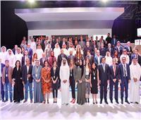 منتدي الإعلام العربي | محمد بن راشد يشارك الإعلاميين في صورة جماعية