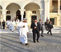 صور| الرئيس السيسي والشيخ محمد بن زايد في قصر رأس التين
