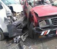 إصابة شخصين في حادث تصادم بطريق الفيوم الصحراوي