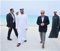 صور| جولة الرئيس السيسي وولي عهد أبوظبي في مدينة العلمين الجديدة