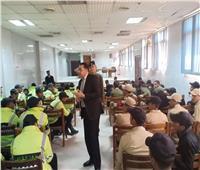 مقرر «القومي للسكان» يلقي محاضرة لمجندي إدارة المرور بالقاهرة